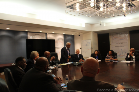 """George Barnes and VOB Members at """"Doing Business with the City of Detroit"""" information session"""